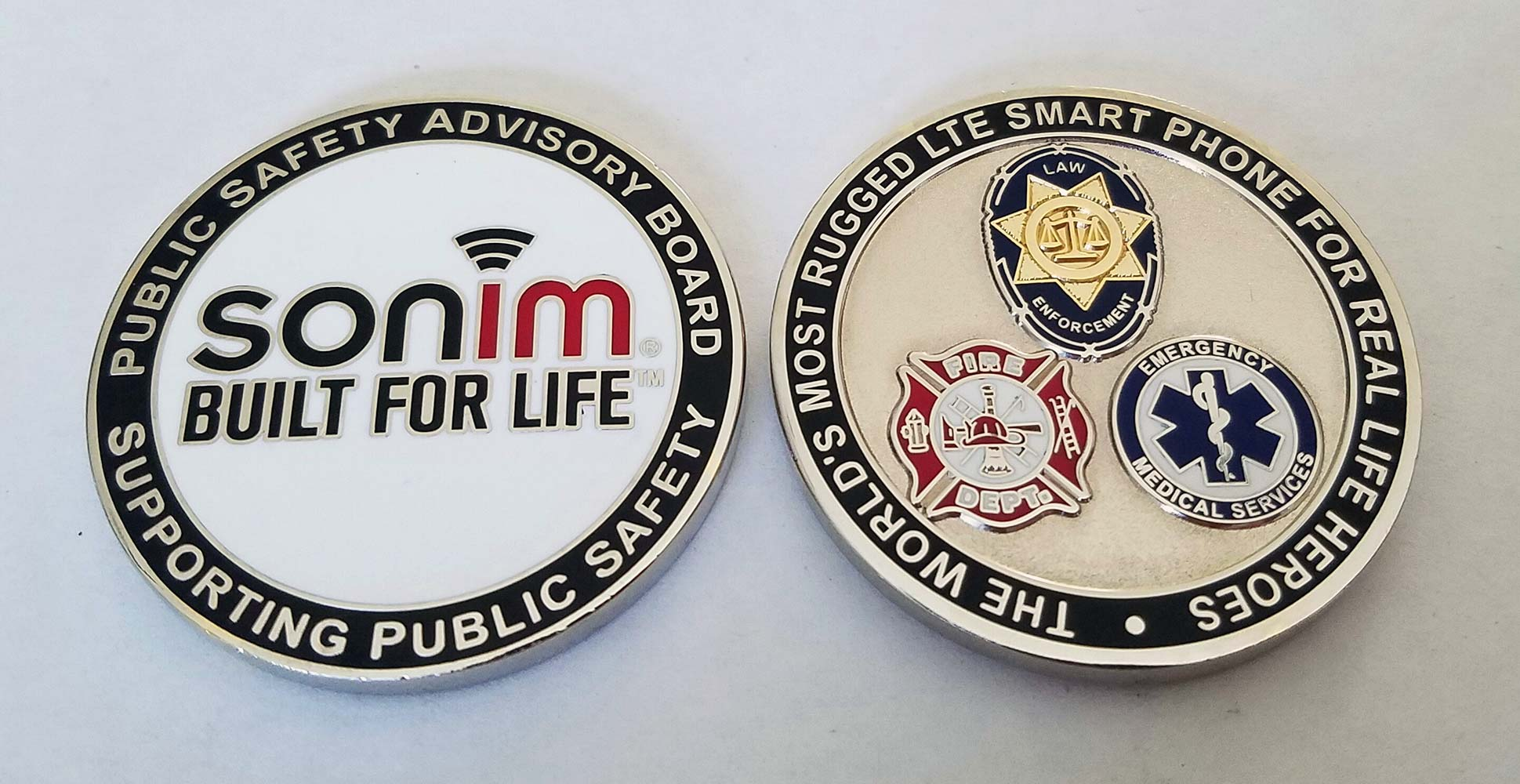 corporate private business challenge coin