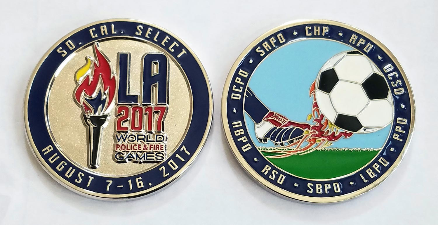 sports teams youth sports challenge coin